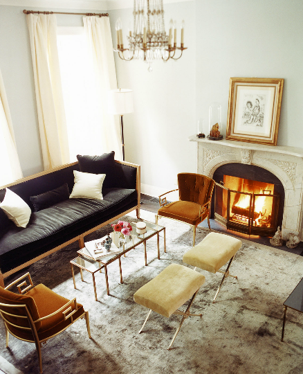 The Pink Doormat: Hollywood Glamour Inspired Living Room