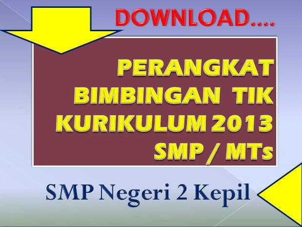 Smp Negeri 2 Kepil Wonosobo Download Perangkat Bimbingan Tik Kurikulum 2013