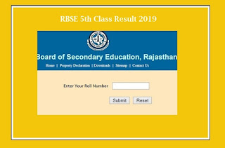 Rajasthan 5th Class Result 2019 Check Here