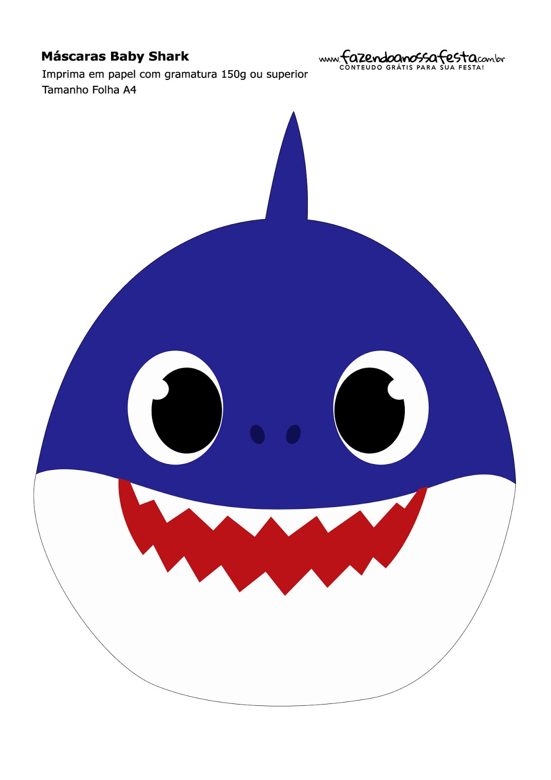 baby shark party  free printable masks