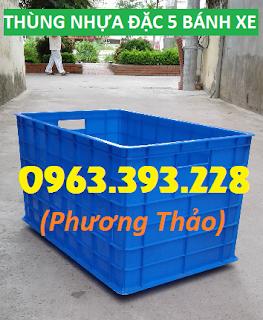 Cung cấp thùng nhựa đặc 5 bánh xe, 8 bánh xe, 16 bánh xe tại Hà Nội