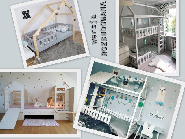 duże łóżka domki dla dzieci