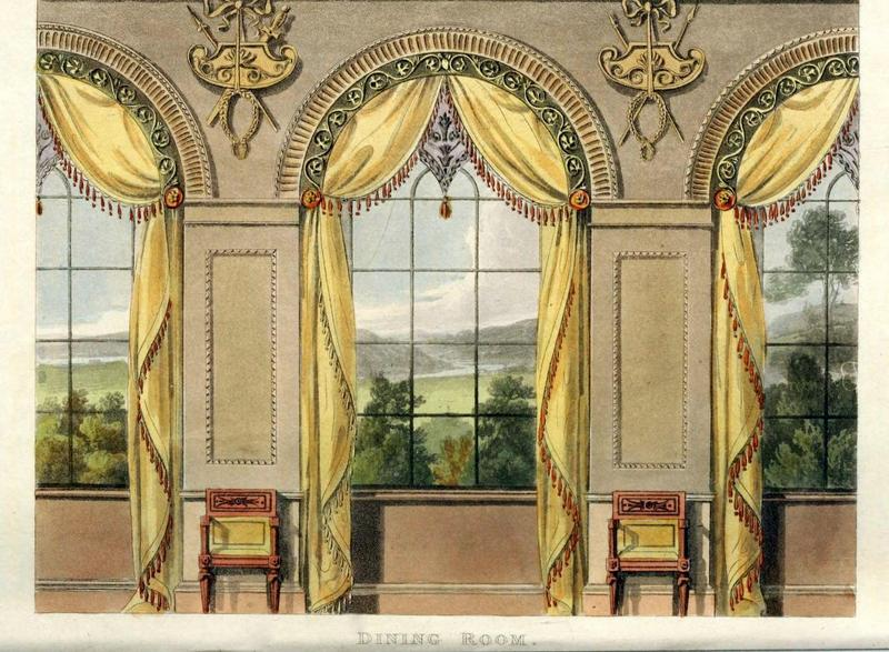 two nerdy history girls dining room window decor for august 1816