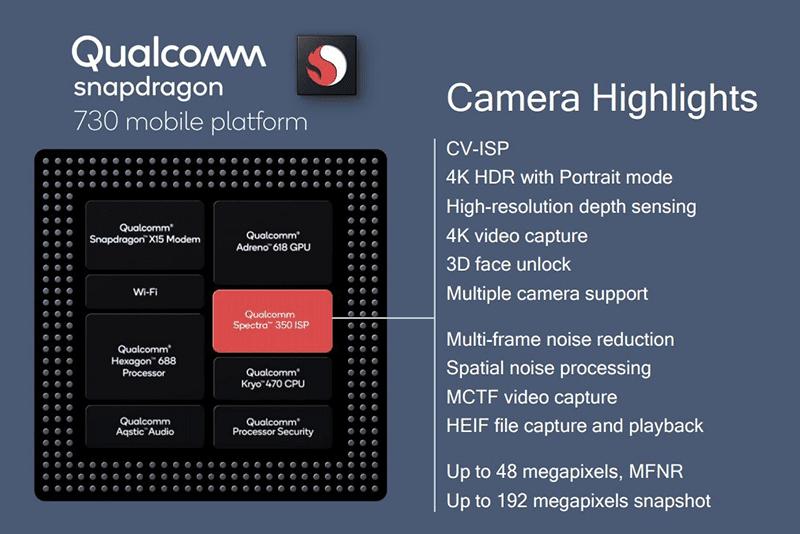 Snapdragon 730 camera highlights