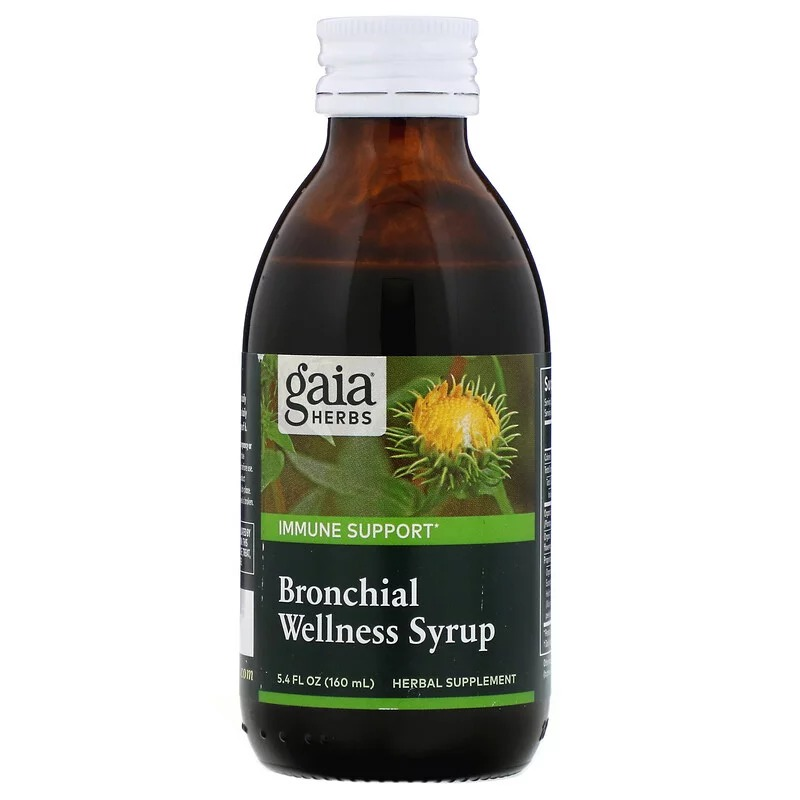 Gaia Herbs, Bronchial Wellness Syrup, 5.4 fl oz (160 ml)