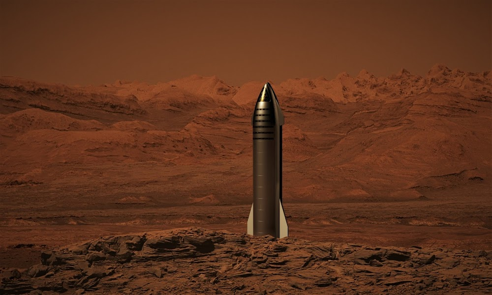 SpaceX Starship on Mars by Dale Rutherford
