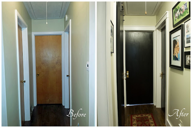 Before and after of the black doors