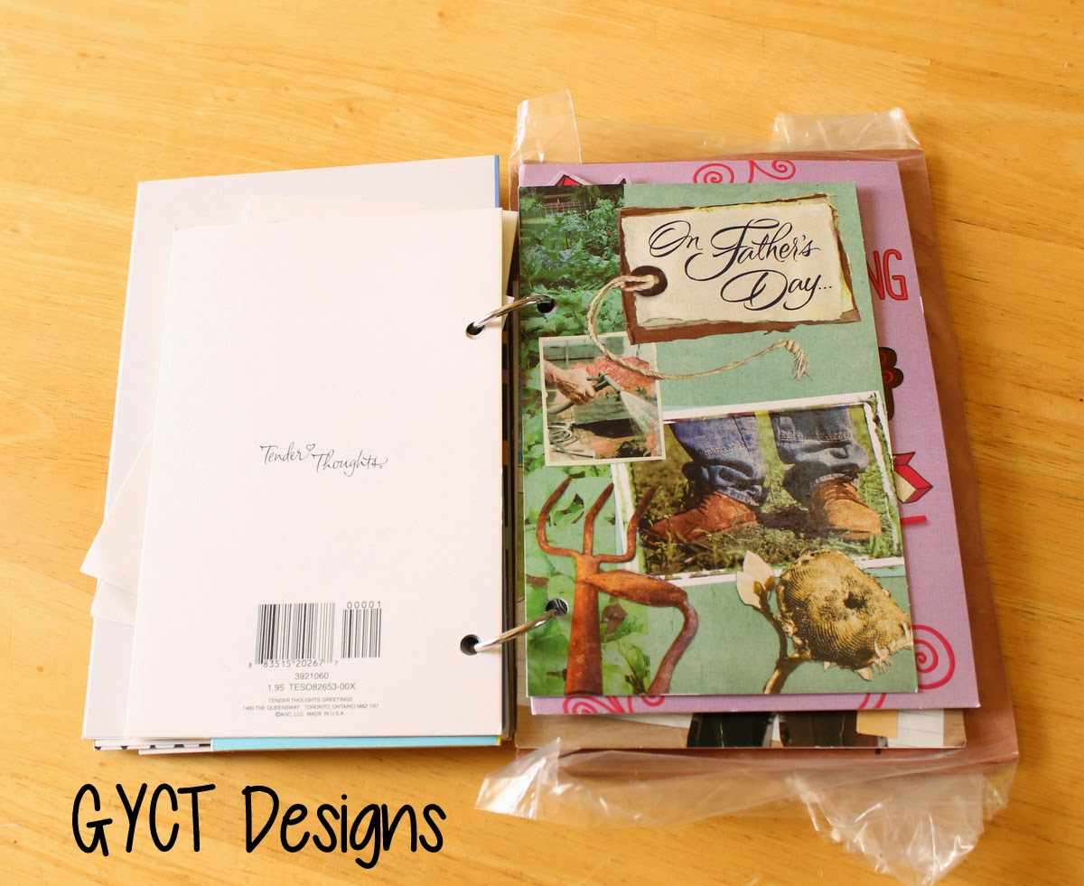 Card Keepsake Books Tutorial by GYCT