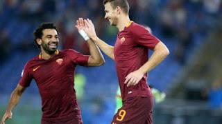 Primo tempo Napoli Roma 0-1 Dzeko segna video