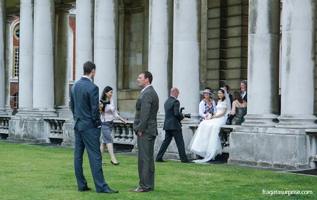 Casamento no Royal Naval College, em Greenwich, Londres