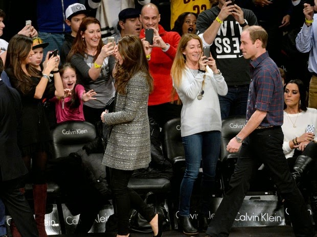 Prince William and Kate Middleton are targets of admirers