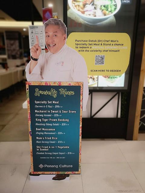 Chef Wan menu
