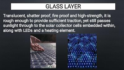 glass layer of Solar Roadways