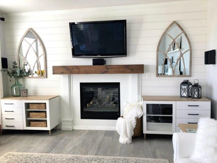 Living room Besta cabinets