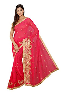 Pure-indian-chiffon-sarees-with-blouse-for-summer-for-girls-11