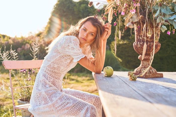 Alannah Walton stars in LoveShackFancy spring 2020 campaign