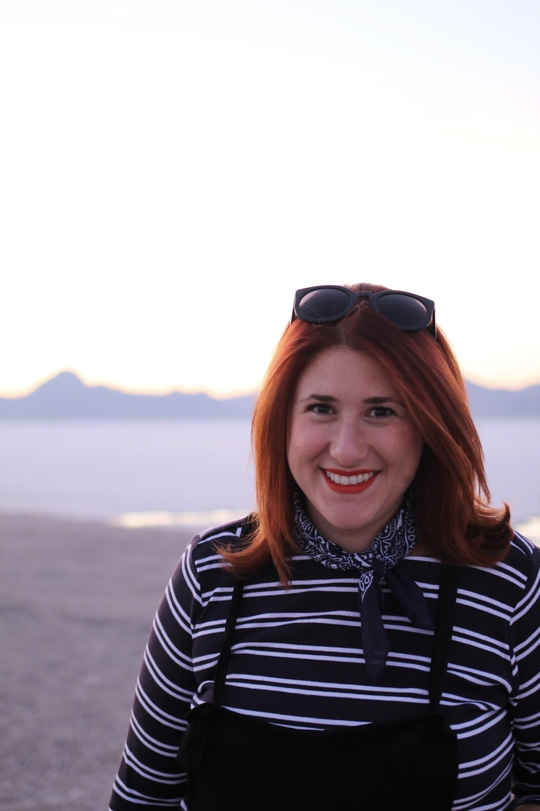 Bonneville salt Flats, Maternity style, overalls, red hair, sunset