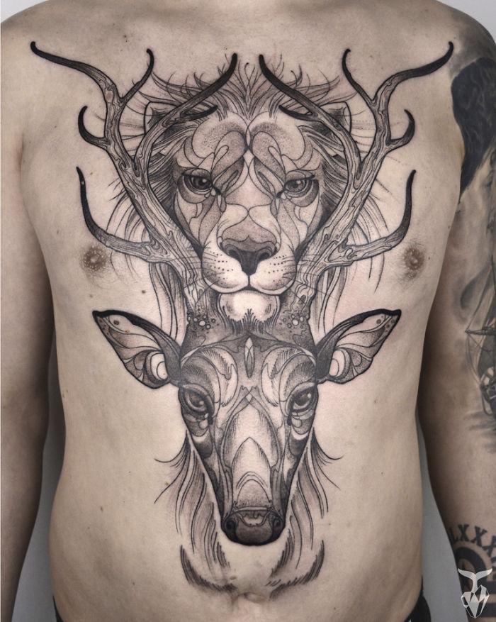 Un Artista Crea Tatuajes De Animales Estilo Art Nouveau Quiero