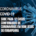 Sobe para 12 o número de casos confirmados de Coronavírus em Bom Jesus do Itabapoana
