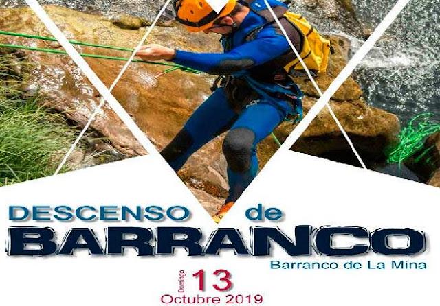 Descenso de Barranco de La Mina octubre 2019