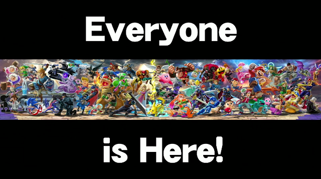 Super Smash Bros. Ultimate Everyone is Here! all character artwork