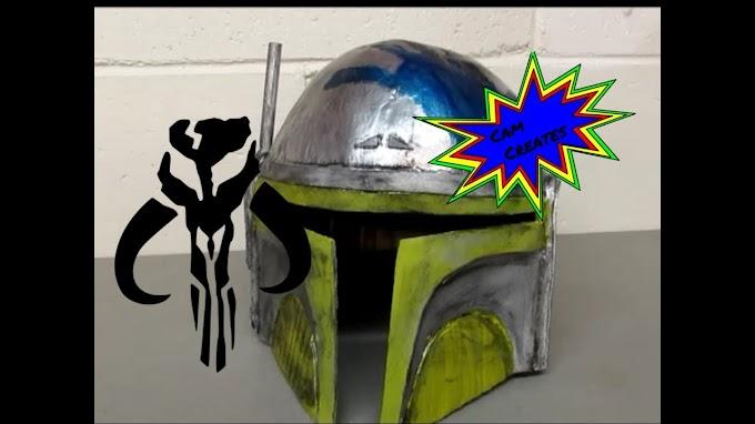 Como crear un casco de Mandaloriano con cartón.