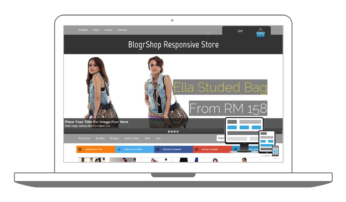 Blogger Themes Blogspot Responsive E-Commerce Shopping Cart Ready ...