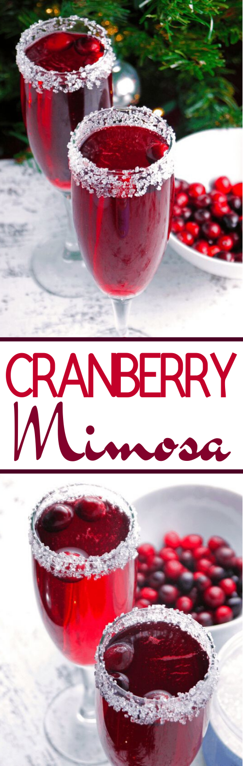 Cranberry Mimosa #drinks #alcohol #brunch #cocktails #christmas