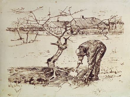 Van Gough, In The Orchard (Lithograph)