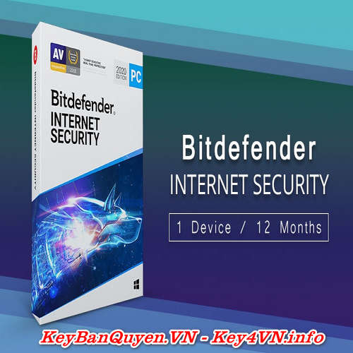 Bán Key bản Quyền Bitdefender Internet Security 1 PC 1 năm.