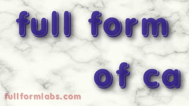 CA Full form