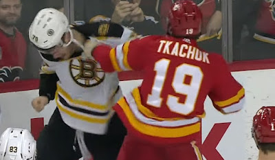 hockey nhl fight bruins flames