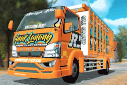 Livery Fuso Orange: Anak Lanang - Bak Fixed | ES Truck Simulator ID