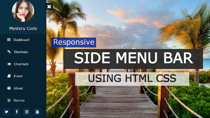 Sidebar Menu Using Only HTML and CSS