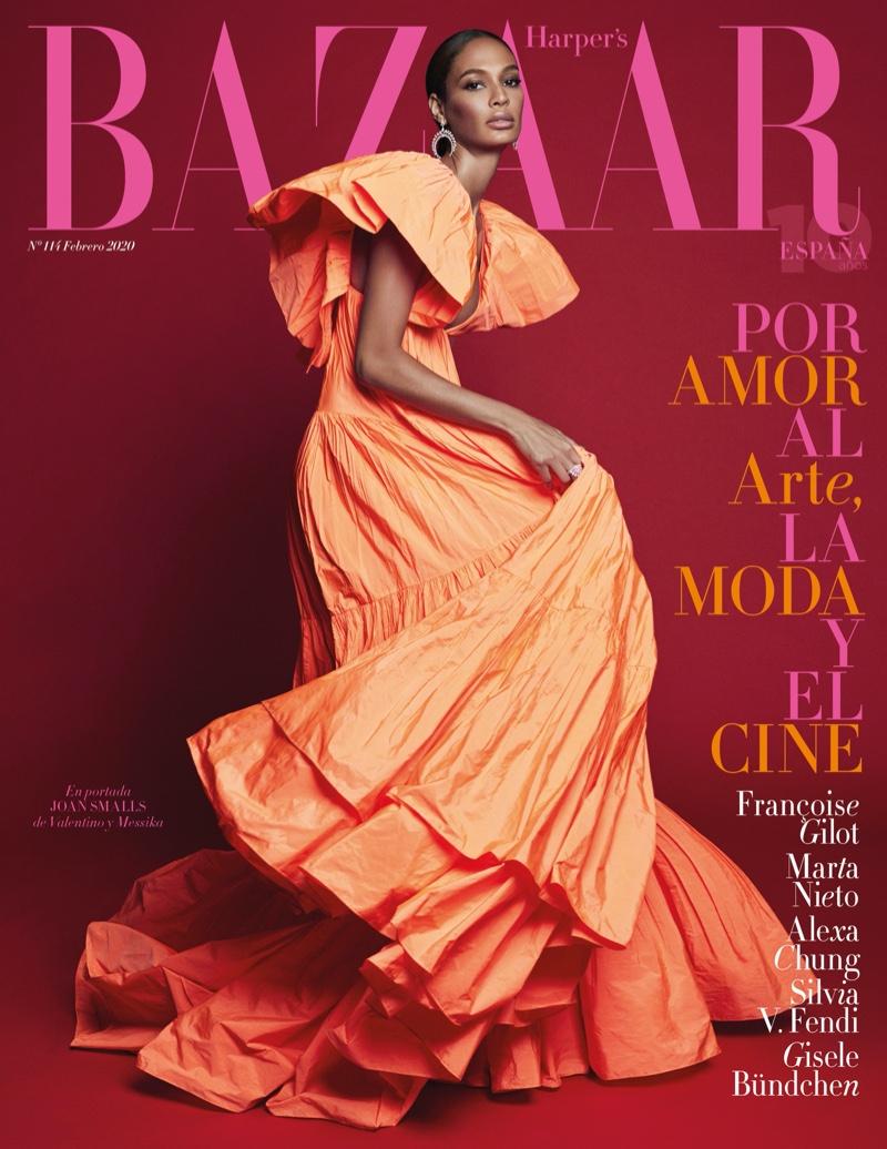 Joan Smalls is glamorously vibrant for Harper's Bazaar Spain