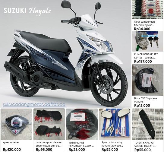 Daftar Harga Suku Cadang Suzuki Hayate 125