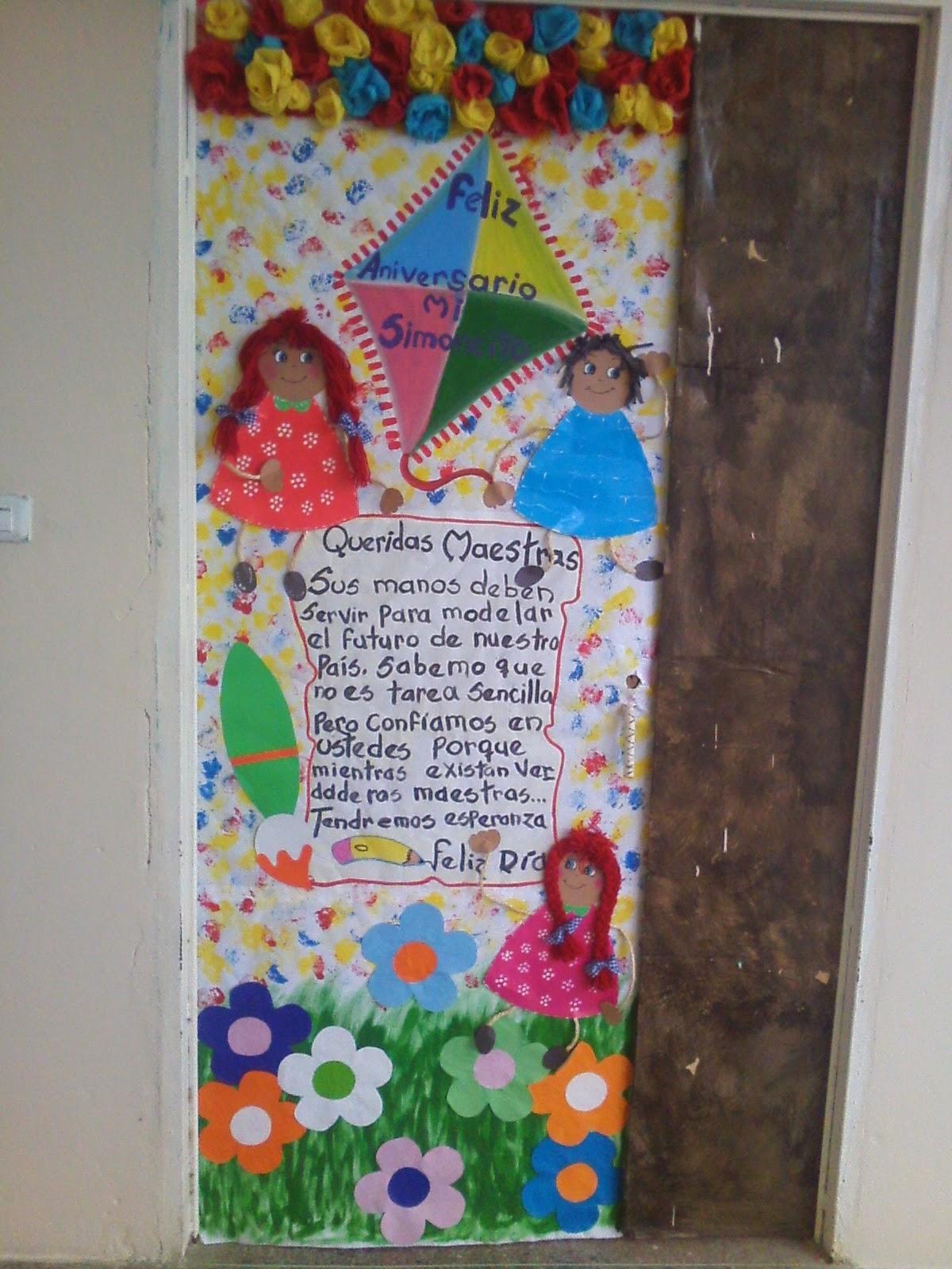 Cajitas de sue os puertas decoradas for Puertas decoradas para el 10 de mayo
