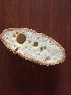 it has some crumb, but it's very dense