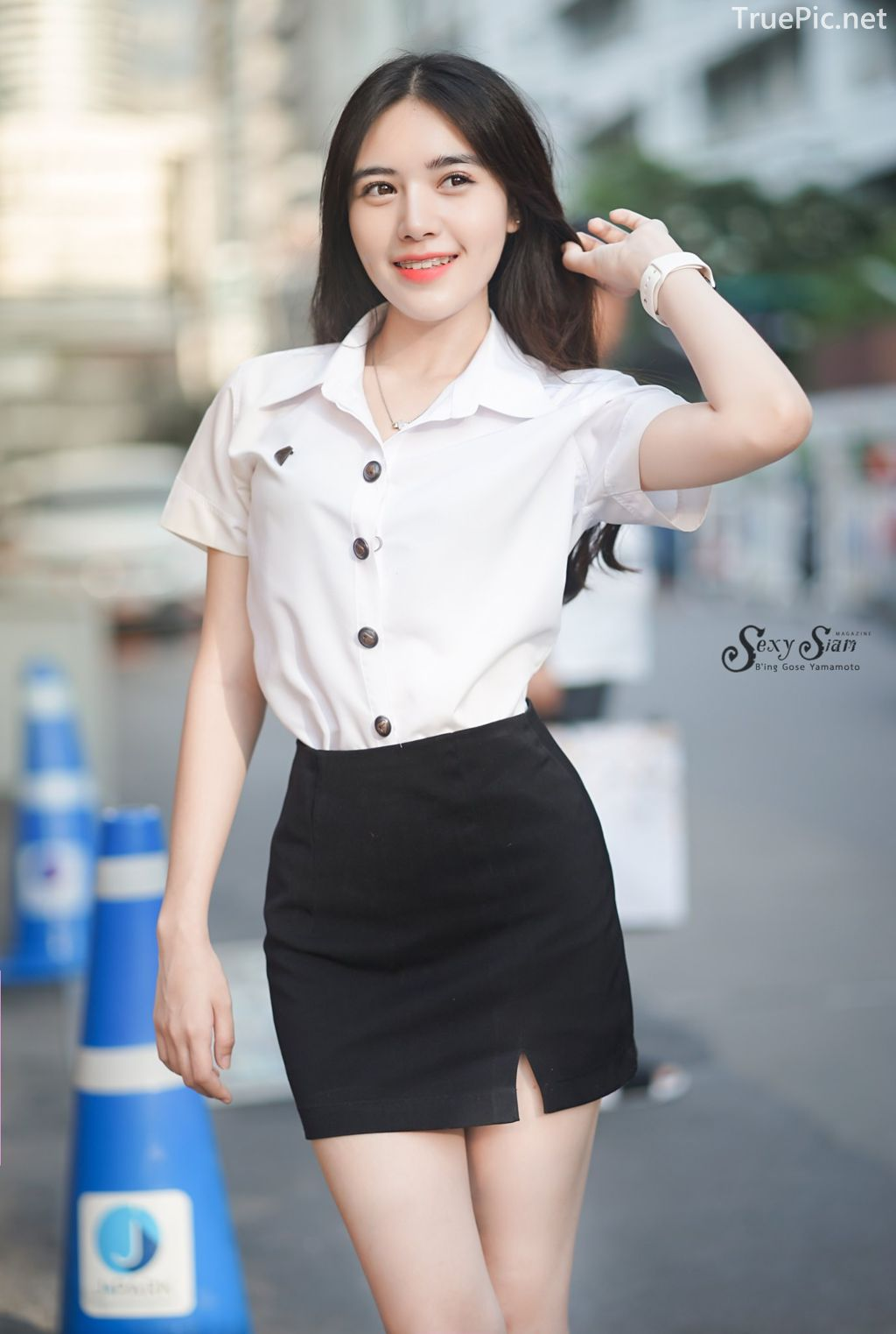 Thailand beautiful girl - Chonticha Chalimewong - Thai Girl Student uniform - TruePic.net - Picture 1