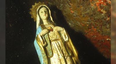 Imagem da Virgem Maria é encontrada no mar