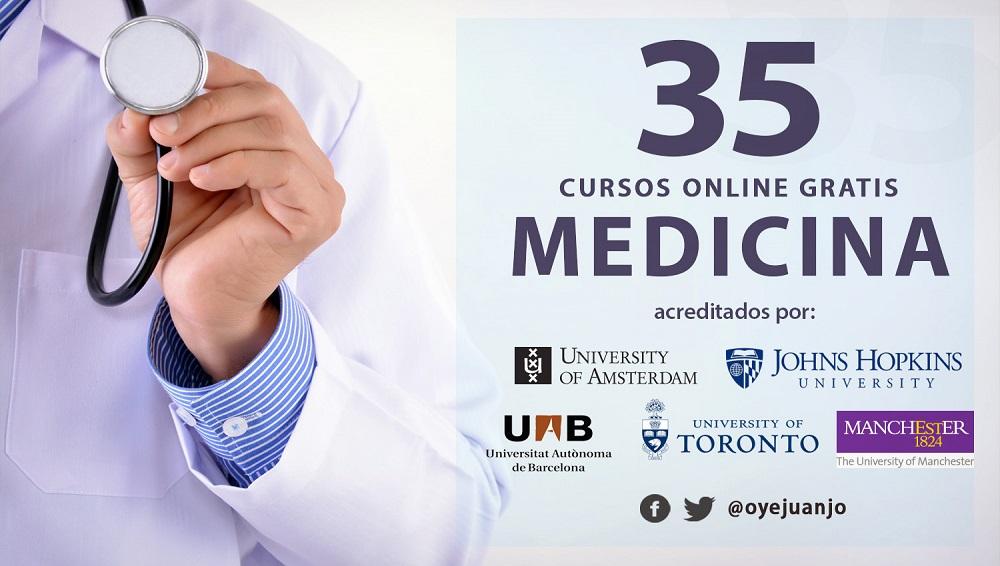 35 cursos online gratis de Medicina y Salud | Oye Juanjo!