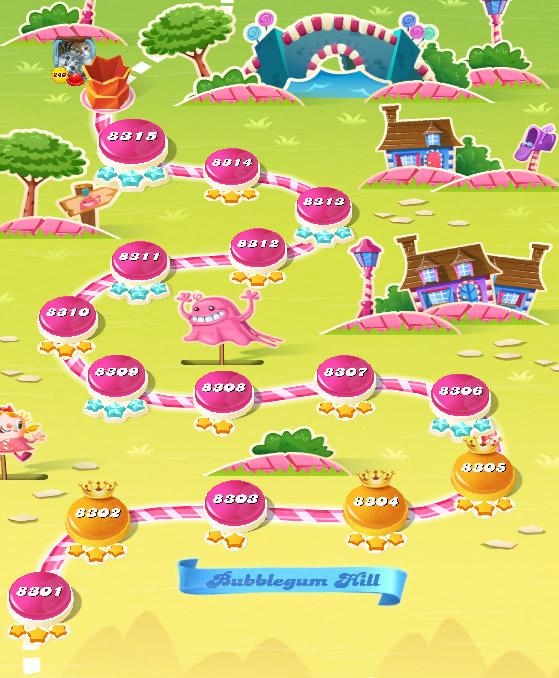Candy Crush Saga level 8301-8315
