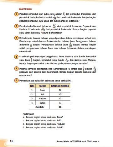 kunci jawaban matematika kelas 5 kurikulum 2013 revisi