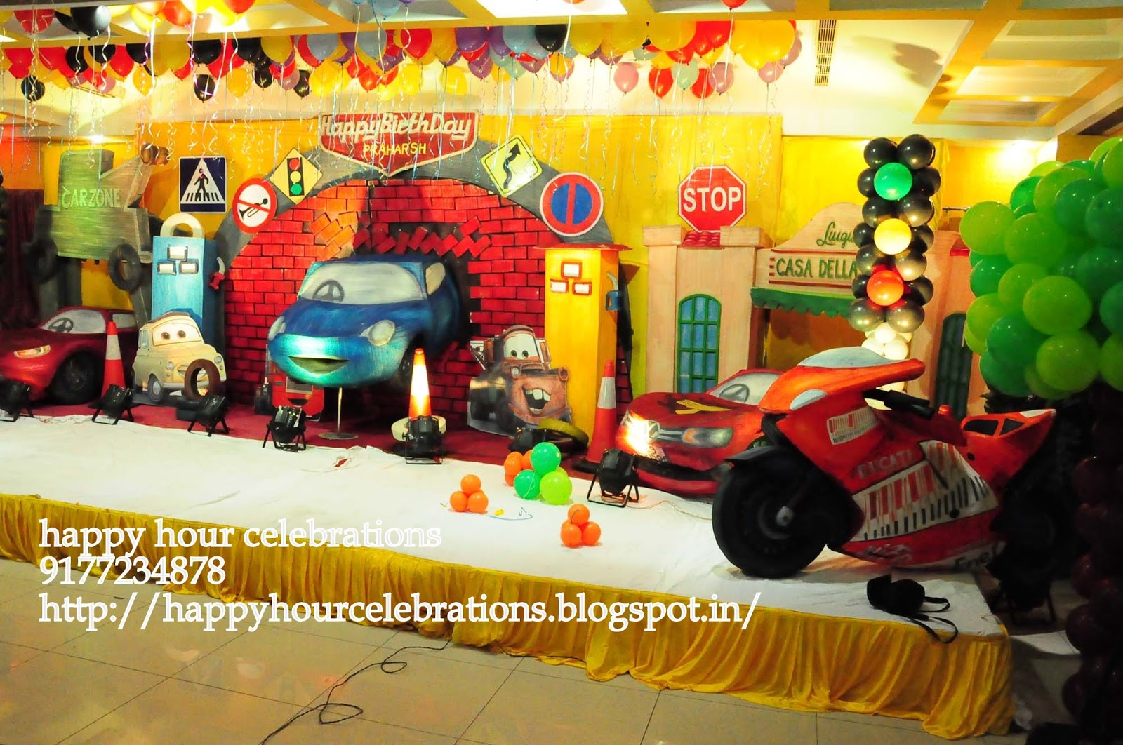 Happy Hour Celebrations has been designing and arranging events and parties  of all kinds and sizes  in hyderabad and outside hyderabad. Birthday party decorations Boys   Girls Themes   Birthday party