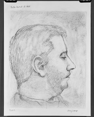 profile portrait exercise from Drawing on the Right Side of the Brain