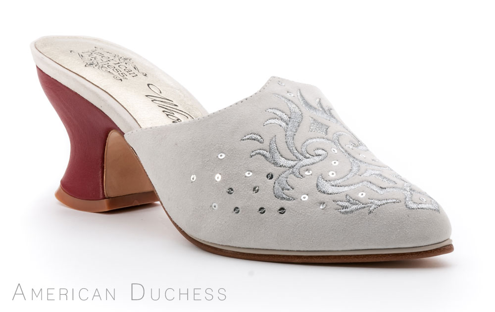 American Duchess custom made 18th century mules