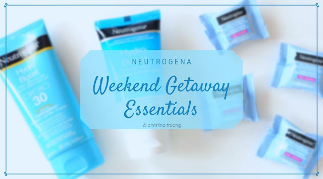 Weekend Getaway Essentials featuring Neutrogena Hydro Boost Hand Gel Cream, Neutrogena Hydro Boost Water Gel Sunscreen SPF 30, Neutrogena All-In-One Make-up Removing Cleansing Single Wipes Review