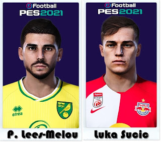 PES 2021 Faces Pierre Lees-Melou & Luka Sucic by Shaft