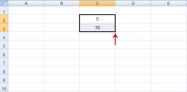 الترقيم التلقائي في Excel