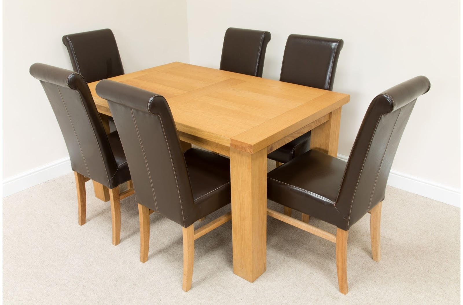 Famous Oak Table And 6 Chairs Top Design Source